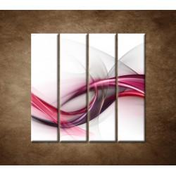 Obrazy na stenu - Ružová vlna - 4dielny 120x120cm
