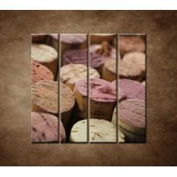Obrazy na stenu - Korky od vína - 4dielny 120x120cm