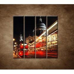 Obrazy na stenu - Nočný Londýn - 4dielny 120x120cm