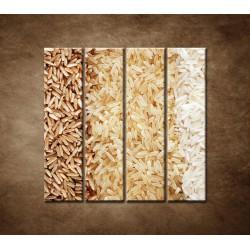 Obrazy na stenu - Tri druhy ryže - 4dielny 120x120cm