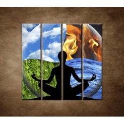 Obrazy na stenu - Štyri živly - 4dielny 120x120cm