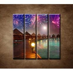 Obrazy na stenu - Oslavy na ostrove - 4dielny 120x120cm
