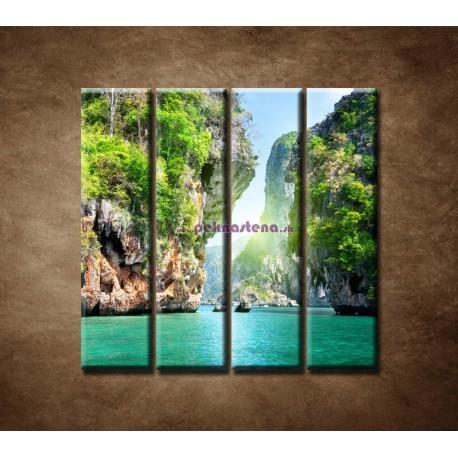 Obrazy na stenu - Raj - 4dielny 120x120cm
