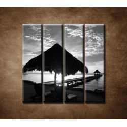 Obrazy na stenu - Výhľad na more - 4dielny 120x120cm