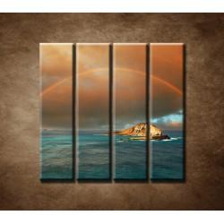 Obrazy na stenu - Dúha nad morom - 4dielny 120x120cm