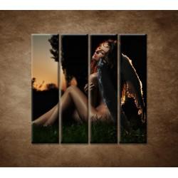 Obrazy na stenu - Anjel - 4dielny 120x120cm
