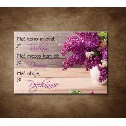 Obrazy na stenu - Mať koho milovať, je rodina ...