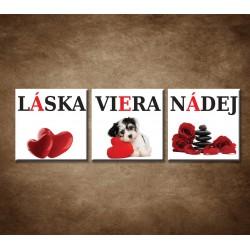 Troj- obraz - Láska, viera, nádej