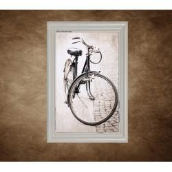 Obraz na stenu - Starý bicykel - bledý rám