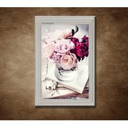 Obraz na stenu - Vintage - kytica - bledý rám