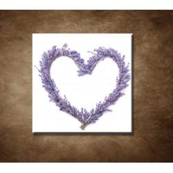 Obrazy na stenu - Levanduľové srdce