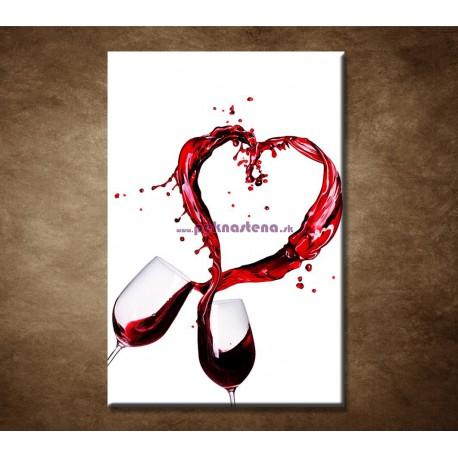 Obrazy na stenu - Poháre červeného vína
