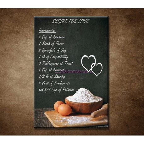 Obrazy na stenu - Recipe for love