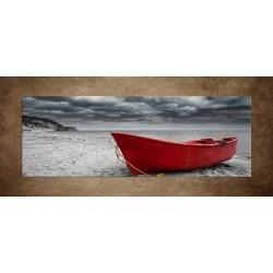 Obraz - Čln na pláži - panoráma