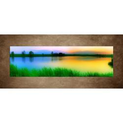 Obrazy na stenu - Západ slnka nad jazerom