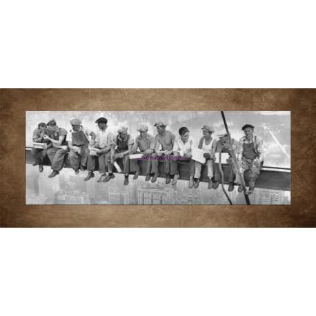 Obrazy na stenu - Robotníci na traverze - panoráma