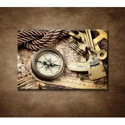 Obrazy na stenu - Mapa a kompas