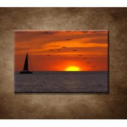 Obrazy na stenu - Plachetnica pri západe slnka