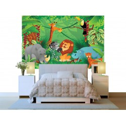 Fototapeta - Zvieratká v jungli