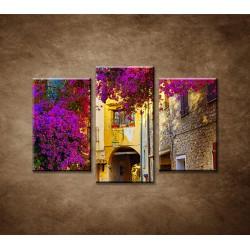 Obrazy na stenu - Ulička v provence - 3-dielny 75x50cm