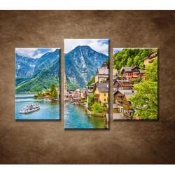 Obrazy na stenu - Hallstatt - 3dielny 75x50cm