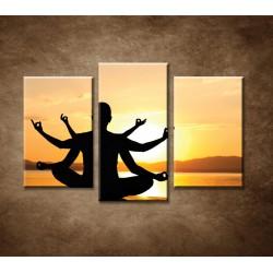 Obrazy na stenu - Indický boh - 3dielny 75x50cm