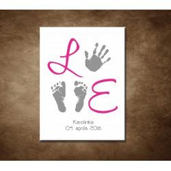 Obraz s údajmi o narodení - dievča - motív 3