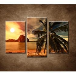 Obrazy na stenu - Západ slnka na pobreží - 3dielny 75x50cm