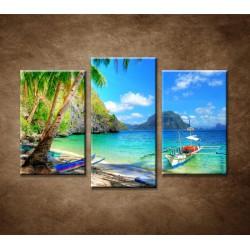 Obrazy na stenu - Slnečná zátoka - 3dielny 75x50cm