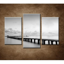 Obrazy na stenu - Most na pláži - 3-dielny 75x50cm