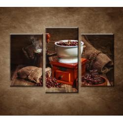 Obrazy na stenu - Mlynček na kávu - 3-dielny 75x50cm