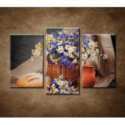 Obrazy na stenu - Poľné kvety - 3-dielny 75x50cm