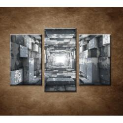 Obrazy na stenu - Tunel - 3dielny 75x50cm