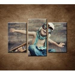 Obrazy na stenu - Malý chlapec - 3dielny 75x50cm