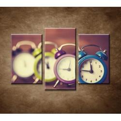 Obrazy na stenu - Retro hodiny - 3-dielny 75x50cm