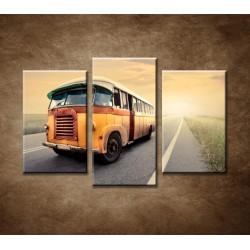 Obrazy na stenu - Starý autobus - 3-dielny 75x50cm