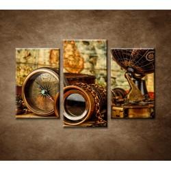 Obrazy na stenu - Staré mapy - 3-dielny 75x50cm