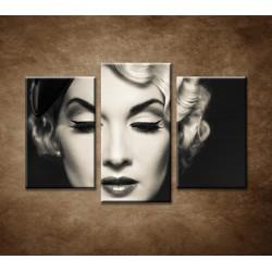 Obrazy na stenu - Elegantná žena - 3-dielny 75x50cm