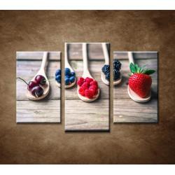 Obrazy na stenu - Ovocie na vareške - 3dielny 75x50cm