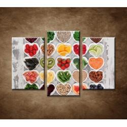 Obrazy na stenu - Zdravá strava - 3dielny 75x50cm