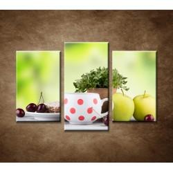 Obrazy na stenu - Svieže raňajky - 3dielny 75x50cm
