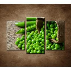 Obrazy na stenu - Zelený hrášok - 3dielny 75x50cm