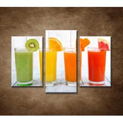 Obrazy na stenu - Fresh nápoje - 3dielny 75x50cm