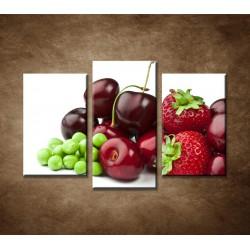 Obrazy na stenu - Čerstvé plody - 3dielny 75x50cm