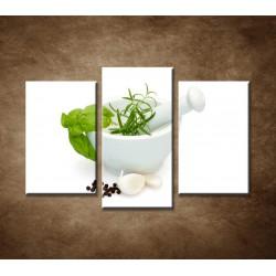 Obrazy na stenu - Príprava marinády - 3dielny 75x50cm