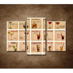 Obrazy na stenu - Recepty koktailov - 3dielny 75x50cm