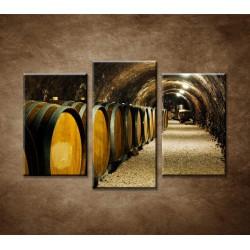 Obrazy na stenu - Staré vínne sudy - 3dielny 75x50cm