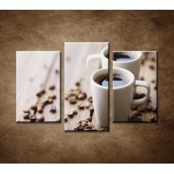 Obrazy na stenu - Espresso - 3dielny 75x50cm