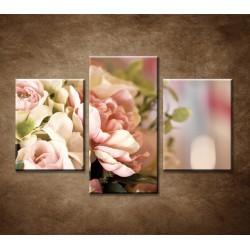 Obrazy na stenu - Jemná kytica - 3dielny 90x60cm