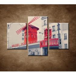 Obrazy na stenu - Moulin Rouge - 3dielny 90x60cm